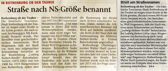 """""""tz"""" München und """"Süddeutsche Zeitung"""" vom 25. November 2014"""