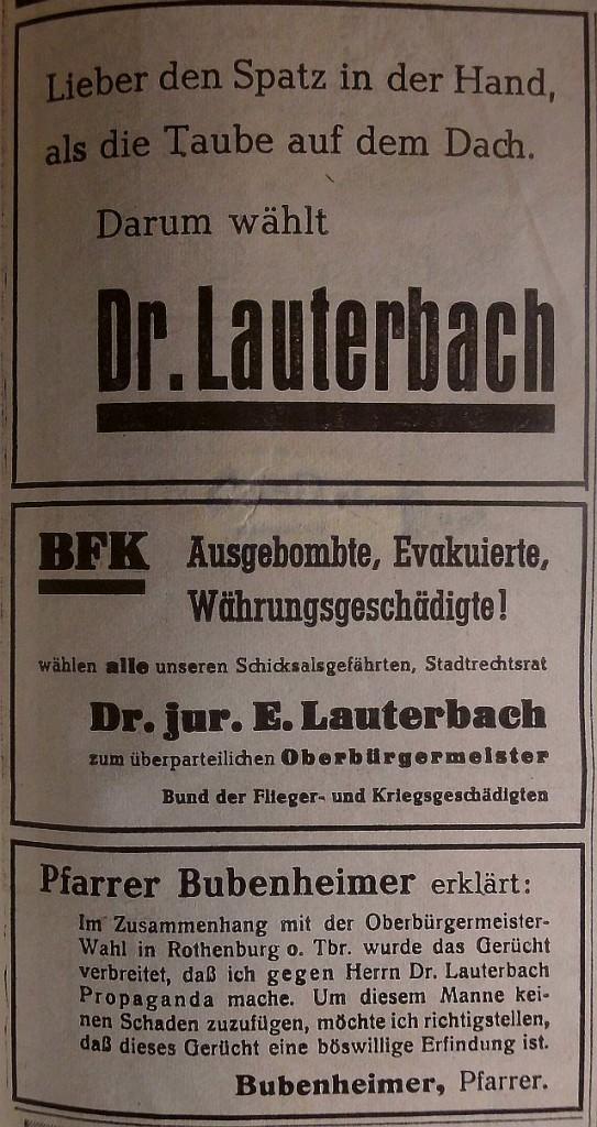 Wahlkampf 1952