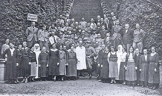 Lazarett-Belegschaft, vermutlich 1939l