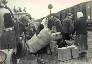 Displaced Persons werden in Lagern zur Rückreise gesammelt; Foto: Stadtarchiv FReiburg