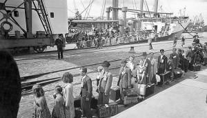 Auswanderer in Bremenhaven 1951
