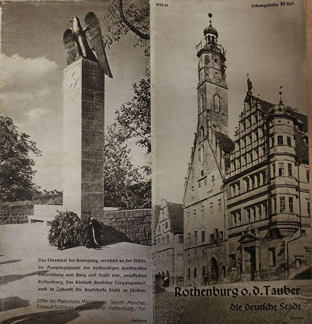 Umschlag Touristenbroschüre 1935