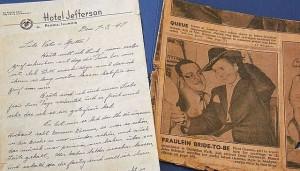 Erste dt. Kriegsbraut aus Mörlebach (Odenwald) in Chicago 1947
