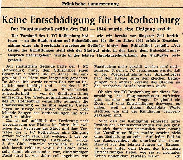 """""""Fränkische Landeszeitung"""" 12. März 1954"""