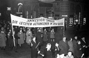 Demonstration für die Freilassung aus der UdSSR 1950
