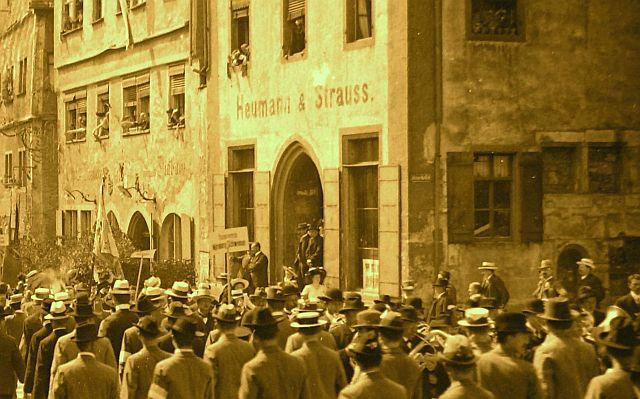 Geschäft Heumann & Strauss um 1900 in der Herrngasse 2