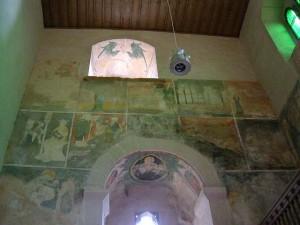 Fresken im Inneren der Blasiuskapelle