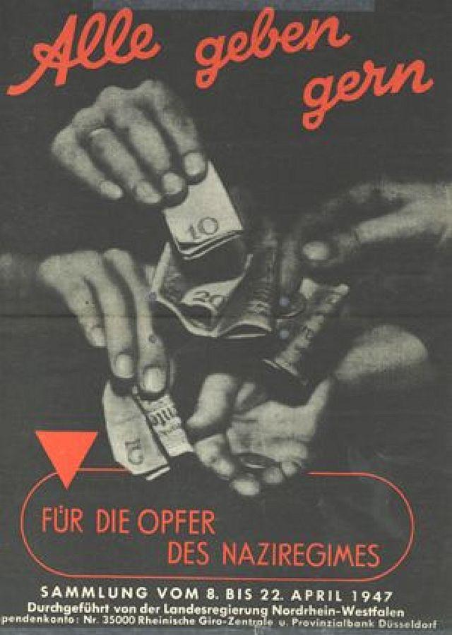 "Plakat zur ""Wiedergutmacfhung""; Foto: Justizakademie Münster"