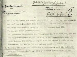 Beantragung der Auslieferung 1936
