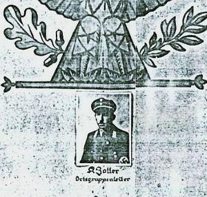 Kreisleiter Zoller noch als OG-Leiter auf der verschollenen Ehrentafel der NSDAP