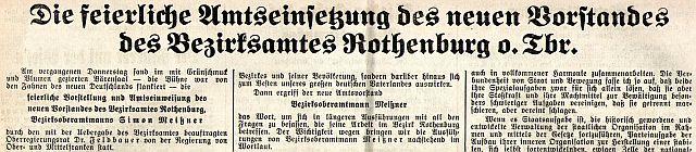 """""""Fränkischer Anzeiger"""" vom 10. Juni 1937 (Ausriss)"""