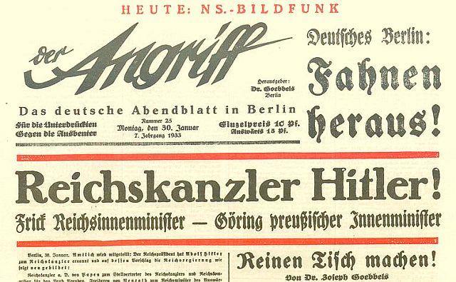 """Hitler wird Reichskanzler und """"Goebbels räumt auf"""""""