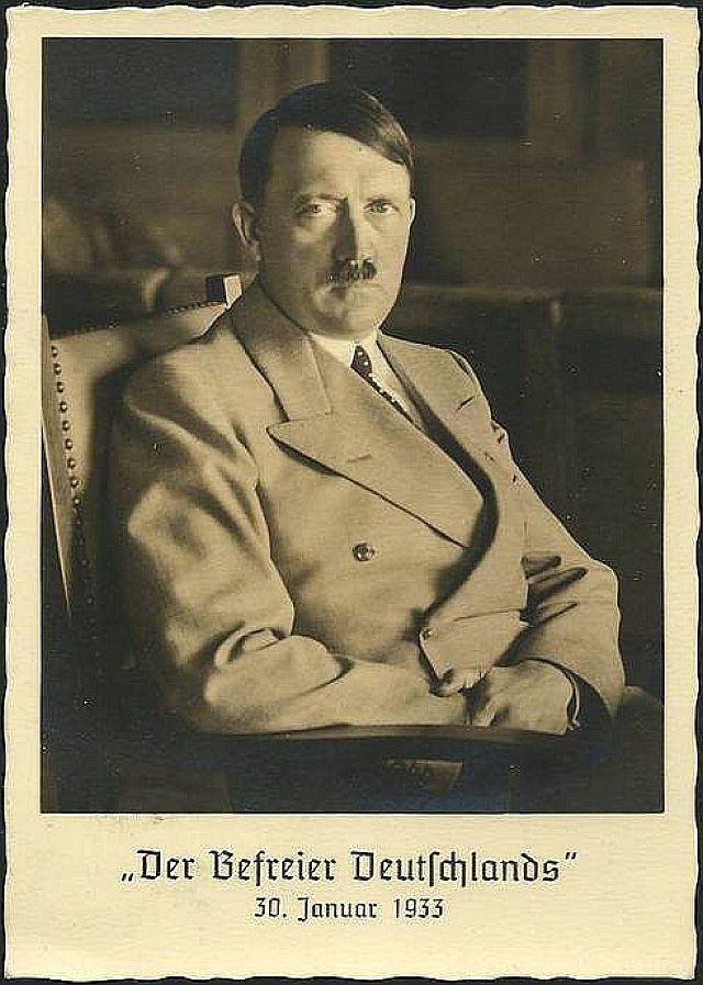 Hitler hat sich verkleidet (Postkarte)