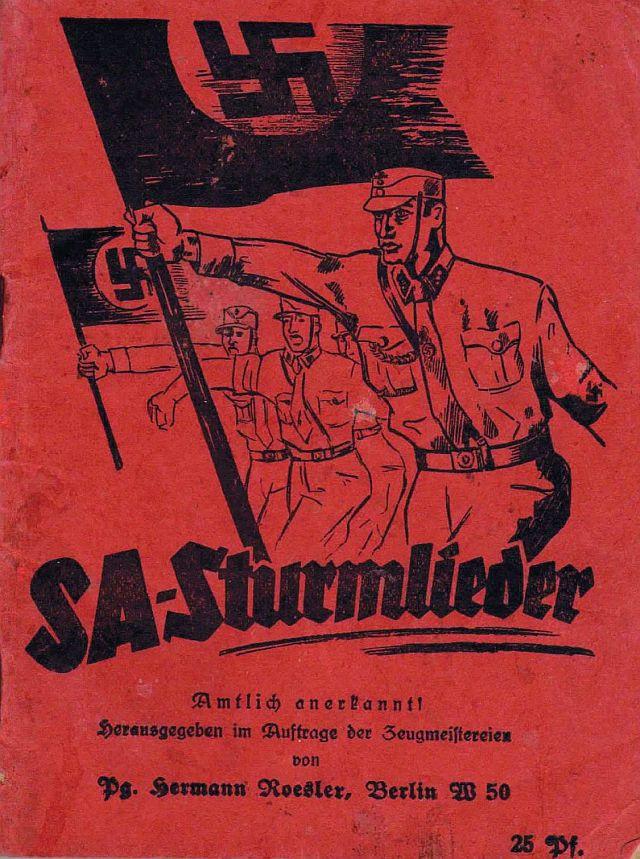 LIederbuch mit der NS-Variante des Heckerliedes
