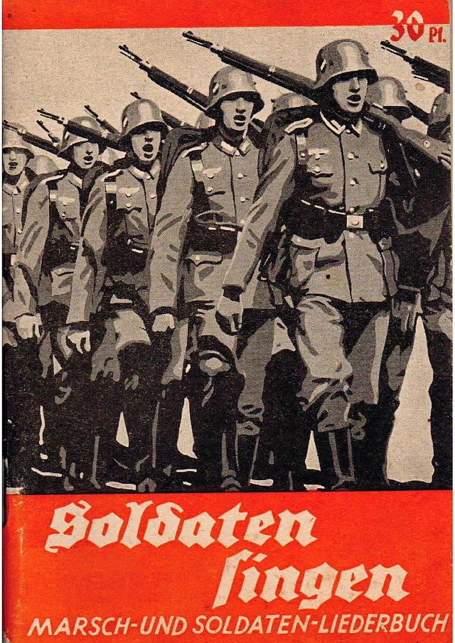 Eins der vielen Soldaten-Liederbücher