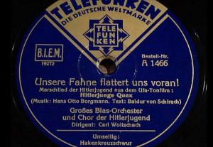 Schallplatte mit Liedern der HJ