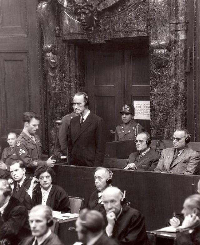Nachfolgeprozess mit Alfried Krupp von Bohlen und Halbach