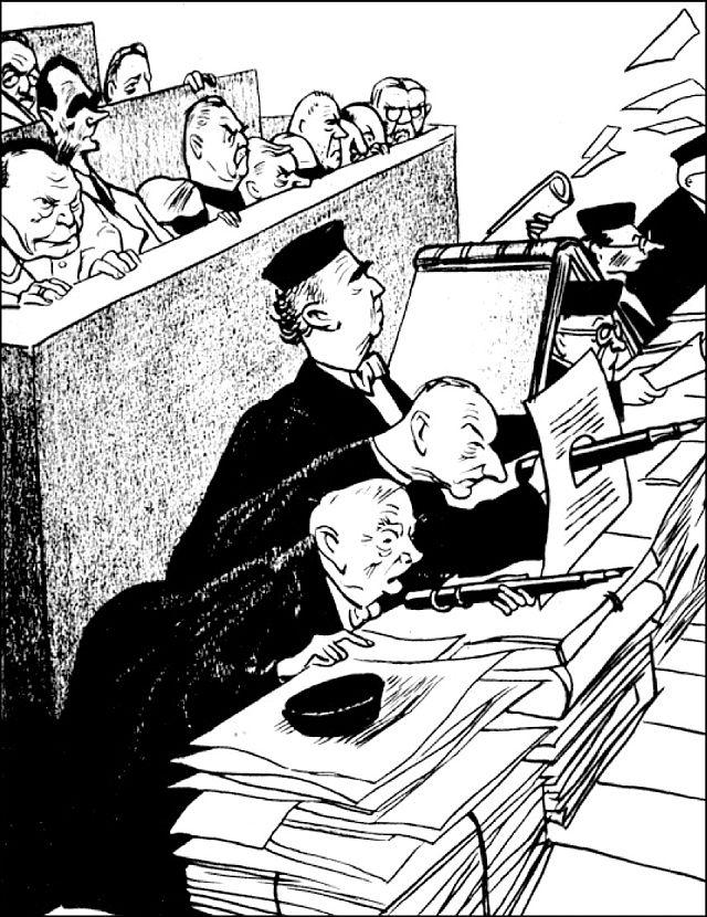 """""""Die letzte faschistische Verteidigungsstellung"""" (Kukrynsky 1946"""