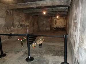 Frühere Gaskammer in Auschwitz heute