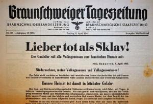 Zeitung vom 6. April 1945