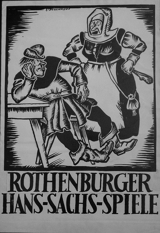 Plakat von Ernst Unbehauen