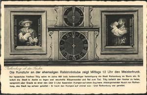 Postkarte der Kunstuhr 1936