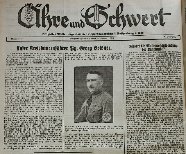 """Sonderseite im """"Fränkischen Anzeiger"""" vom 3. Januar 1935"""