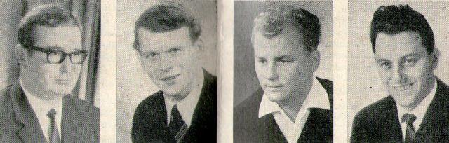 Klaus-Dieter Jürgensen, Karl Philipp, Robert Lassauer, Rudolf Krafft (v. l.)