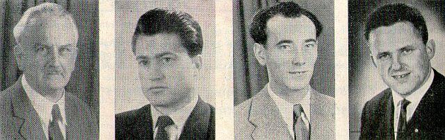 Heinrich Held, Stefan Weingärtner, Günther Göllinger, Erich Maul (v. l.)
