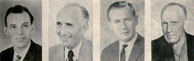 Emil Glöckner, Alois Karlowsky, Rudolf Leopold, Franz Bernhauser (v. l.)