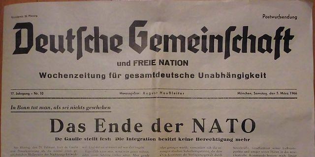 Parteizeitung vom 5. März 1966 - Ausgabe für Rothenburg ob der Tauber