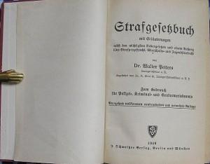 Das damals gültige Strafgesetzbuch bon 1949