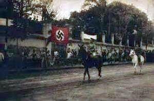 NSDAP-Parade der dortigen Auslandsorganisation in Asunción (Paraguay) 1936