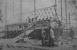 Bau der Befehlsheimbauten im Heckenacker