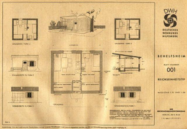 Plan der Einheitsbauten für das gesamte Reich